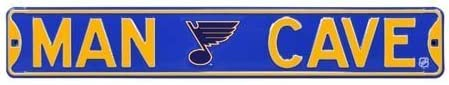 Man Cave St Louis Blues Street Sign by Biggsports
