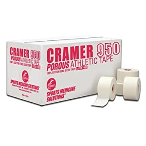 Sammons Preston Cramer 950 Porous Athletic Tape (081613942 1-1 2 x 15 yds 32 rolls) by DSS