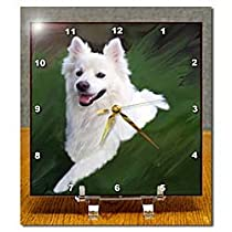 Dogs American Eskimo - American Eskimo - Desk Clocks