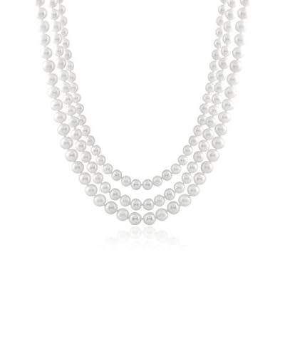 "Splendid 80"" Endless 9-10mm White Pearl Necklace"