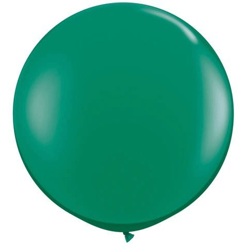 36 Inch Emerald Green Jumbo Latex Balloons 2 Pack