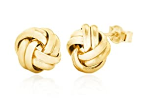 Carissima 9ct Yellow Gold 9mm Knot Stud Earrings