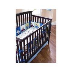 Garanimals Boys on the Go Crib Baby Bumper Bedding Accessory ABC 123 Plane Dino Rocket Travel Car Sport Theme