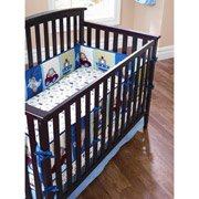 Garanimals Boys on the Go Crib Baby Bumper Bedding Accessory ABC 123 Plane Dino Rocket Travel Car Sport Theme