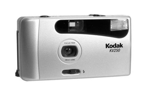 kodak kv 250 compact 35mm focus free camera kit with film. Black Bedroom Furniture Sets. Home Design Ideas