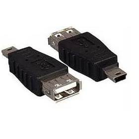 USB A Female to Mini USB B 5 Pin Male Adapter