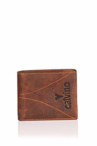 Calvino Calvino 801 Brown Men's Wallet