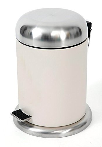 HomeZone VA41082A 5-Liter Carbon steel Round step Trash Can with Dome Lid (Colored Trash Can With Lid compare prices)