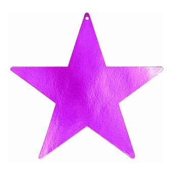 star foil cutout 12 inches -fuchsia