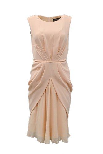 maxmara-womens-cele-combo-fabric-draped-overlay-dress-sz-4-powder-peach-140468mm