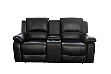 DuNord Design Kinosessel Sessel CINEMA schwarz 2er Polstersessel TV-Sessel Relaxsessel Gamer