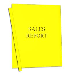 C-Line Report Covers with Binding Bars, Yellow Vinyl, Yellow Bars, 8.5 x 11 Inches, 50 per Box (32556)