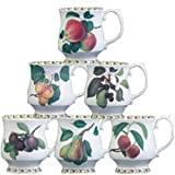 Hookers Fruit Curved Mugs (Set of 6)