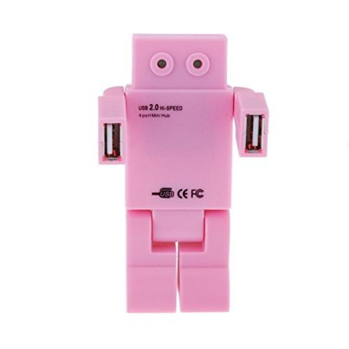 New Robot [USB Hub 2.0] Tcoolgroup Mini High speed HUB with 4 usb port for iMac, MacBook, MacBook Pro, MacBook Air, Mac Mini, or any PC (Robot Usb Port compare prices)