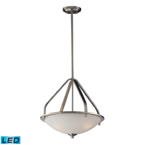 Mayfield 3 Light Pendant In Brushed Nickel - Led, 800 Lumens (2400 Lumens Total) With Full Scale Dimming Range, 60 Watt (180 Watt Total)Equivalent , 120V Replaceable Led Bulb Included