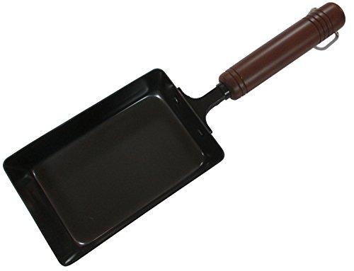 Enzo Iron Omelette Pan Tamagoyaki-ki Wooden Handle EM-8720