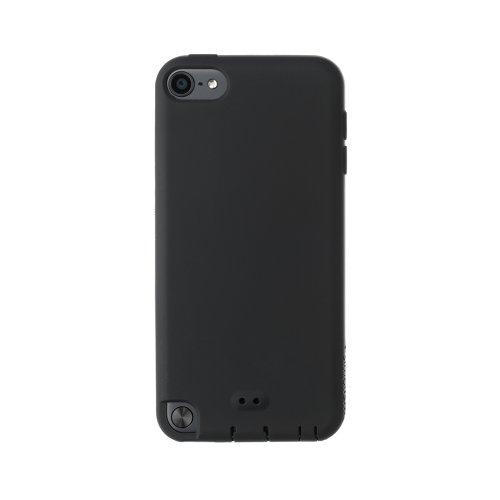 Simplism iPod touch (5th) シリコンケース Loop対応 アンチダストコーティング 液晶保護フィルム付属 抗菌仕様 ブラック TR-SCTC12-BK