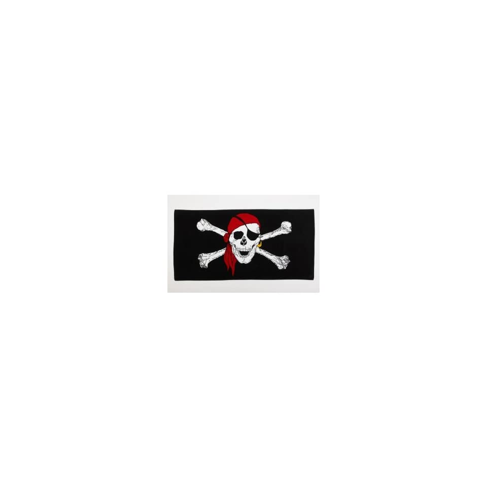 JOLLY ROGER with RED HAT BEACH TOWEL