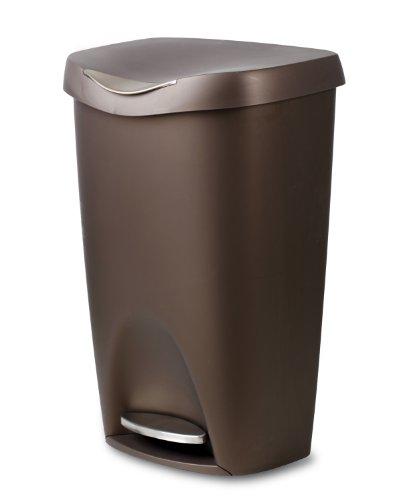 Umbra Brim 13-Gallon Step Waste Can, Bronze (Copper Garbage Can compare prices)