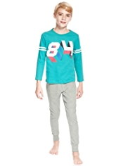 Pure Cotton 3D Effect Sporty Pyjamas