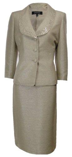 Kasper Women's Egyptian Desert Skirt Suit Light Champagne (4) Image