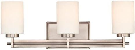 Truman Rectangular 3 light Vanity Light, 3-LIGHT/RCTNGL, ANTIQUE NICKEL