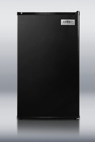 Summit FF43ES - ENERGY STAR qualified compact refrigerator-freezer, counter height with auto defrost and black exterior
