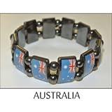 Australia Metal Flag Beads Bracelets