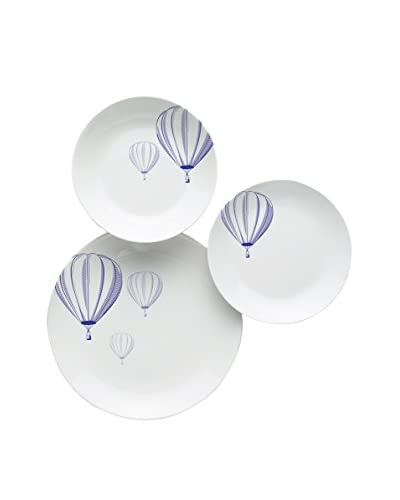 Geniet van Startpagina Servies 18 stuks . Set Balloon wit / blauw