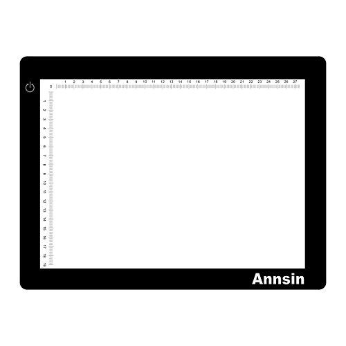 Annsin A4サイズ 薄型8mm 3段階調光 LEDトレース台 (A4)