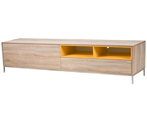 Lowboard Eiche-Gelb Sideboard TV Schrank von furnitiv