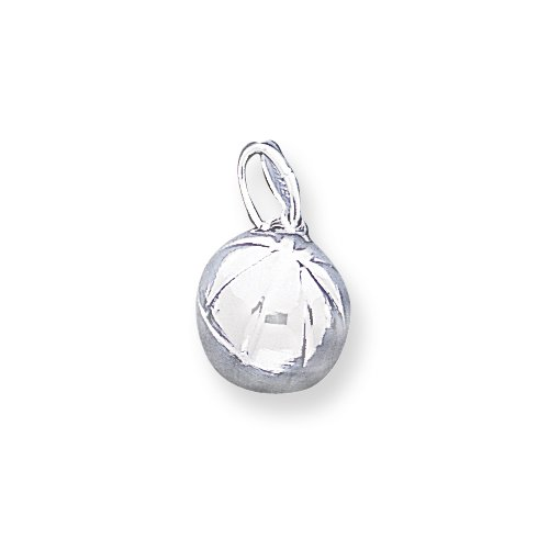 Sterling Silver 3D Basketball Charm
