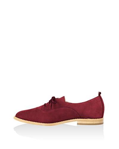 L37 Zapatos de cordones Burdeos