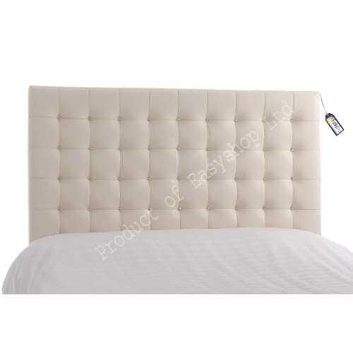 Trending 10 Faux Leather White Crystal Diamante Double Bed Headboards