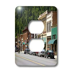 Danita Delimont - Idaho - Main street, old brick buildings, Wallace, Idaho - US13 DFR0712 - David R. Frazier - Light Switch Covers - 2 plug outlet cover