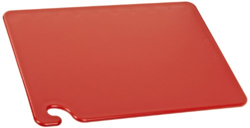 "San Jamar Cb152012Rd 20"" Width X 15"" Height X 1/2"" Depth, Red Cut-N-Carry Cutting Board back-414967"