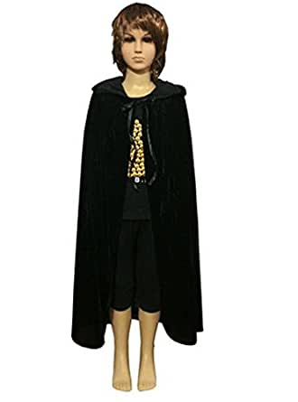 OURS Kids Child Halloween Hooded Cloak Cape Role Play Costumes