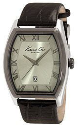 Kenneth Cole New York Leather Collection Grey Dial Men's Watch #KC1890