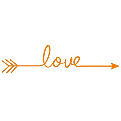 Hatop Love Arrow Decal Living Room Bedroom Vinyl Carving Wall Decal Sticker (Orange) (One Direction Number Clock compare prices)