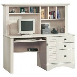 "Computer Desk - Harbor View Collection (Antiqued White) (62.25"" W x 23.5"" D x 57.5"" H)"