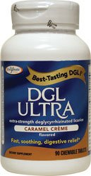 Dgl Ultra-Caramel Creme Enzymatic Therapy Inc. 90 Chewable Tablet
