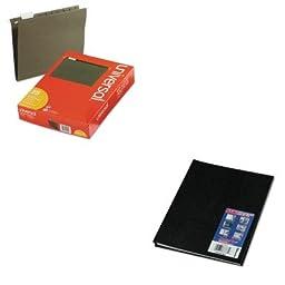 KITREDA10200BLKUNV14115 - Value Kit - Blueline NotePro Notebook (REDA10200BLK) and Universal Hanging File Folders (UNV14115)