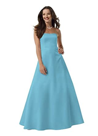 ef4e670a57dc David s Bridal Satin Strapless Ball Gown With Pockets Style F13864