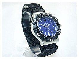 Terrain 969G - Reloj de pulsera para hombre con correa de velcro y bisel giratorio, sumergible a 50 m