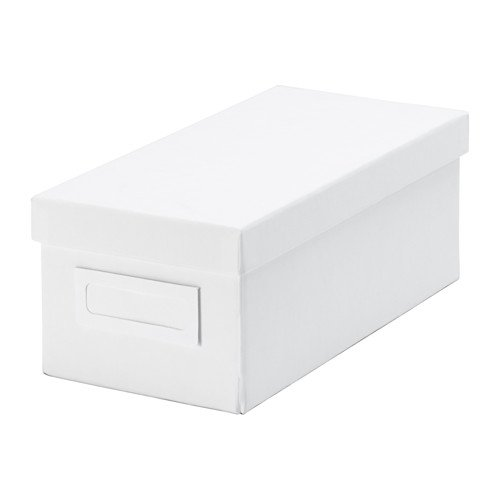 Ikea Tjena Storage Organizer Box with Lid 2 Pack (White) (Dvd Storage Boxes With Lids compare prices)