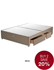 Classic Padded - Single Divan with 1 Small + 1 Large Drawer