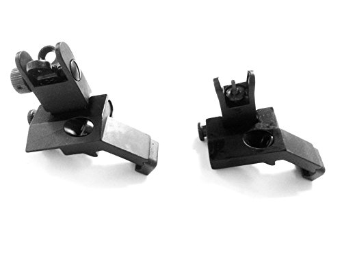 Ade Advanced Optics Front And Rear Flip-Up 45 Degree Rapid Transition Buis Backup Iron Sight