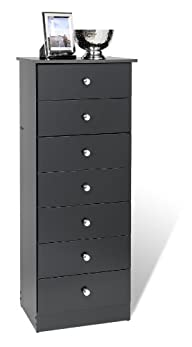 Prepac Black 7-Drawer Lingerie Chest