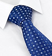 Machine Washable Spot Embroidered Tie
