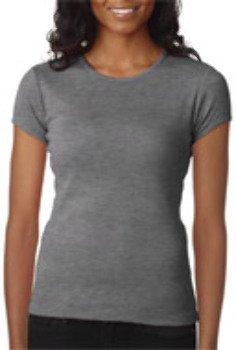 Bella + Canvas Ladies' Baby Rib Short-Sleeve T-Shirt-2XL (Deep Heather)